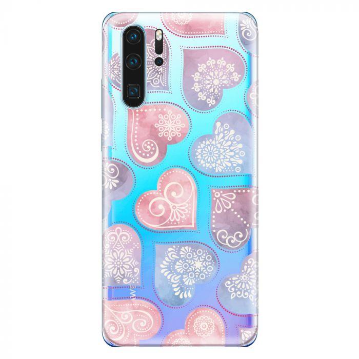Husa Huawei P30 Lemontti Silicon Art Hearts