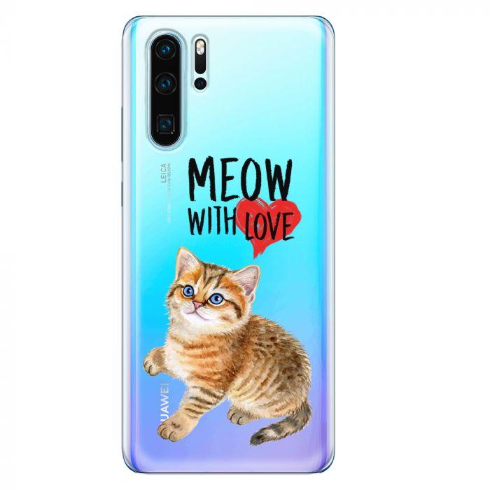 Husa Huawei P30 Pro Lemontti Silicon Art Meow With Love