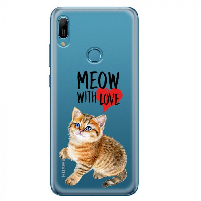 Husa Huawei Y6 2019 Lemontti Silicon Art Meow With Love