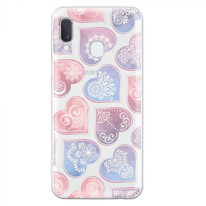 Husa Samsung Galaxy A20e Lemontti Silicon Art Hearts