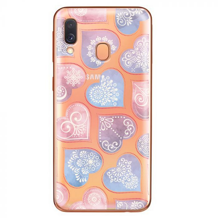 Husa Samsung Galaxy A40 Lemontti Silicon Art Hearts
