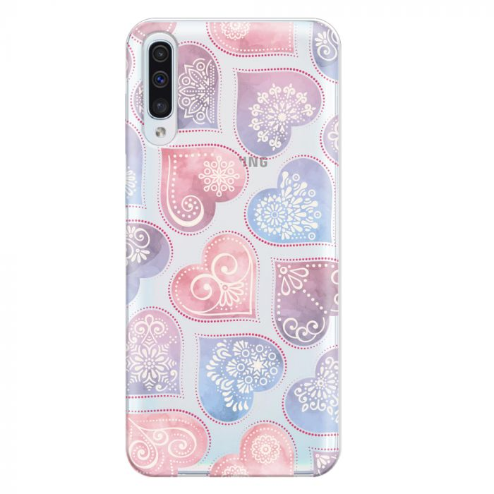 Husa Samsung Galaxy A50 Lemontti Silicon Art Hearts
