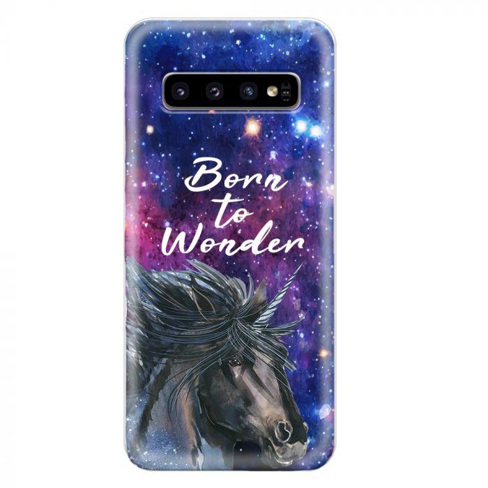 Husa Samsung Galaxy S10 G973 Lemontti Silicon Art Born To Wonder