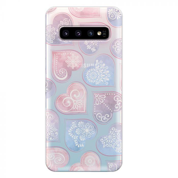 Husa Samsung Galaxy S10 G973 Lemontti Silicon Art Hearts