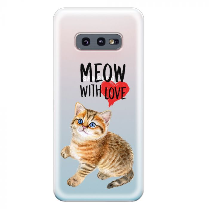 Husa Samsung Galaxy S10e G970 Lemontti Silicon Art Meow With Love