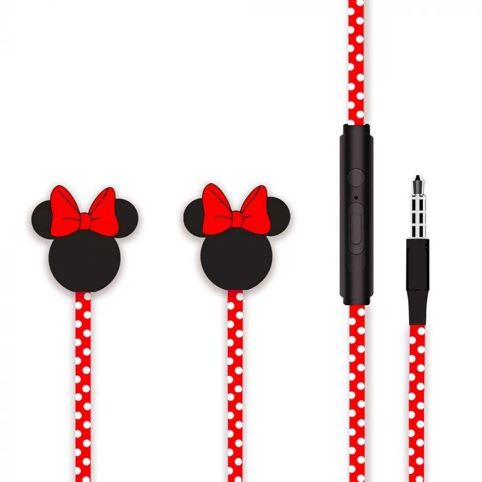 Casti Jack 3.5mm Disney Minnie Matt Head 3D Red