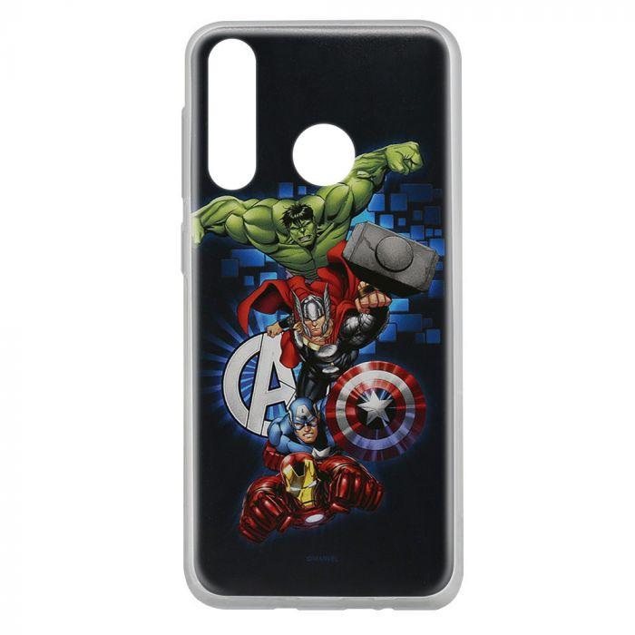 Husa Huawei P30 Lite Marvel Silicon Avengers 001 Navy Blue
