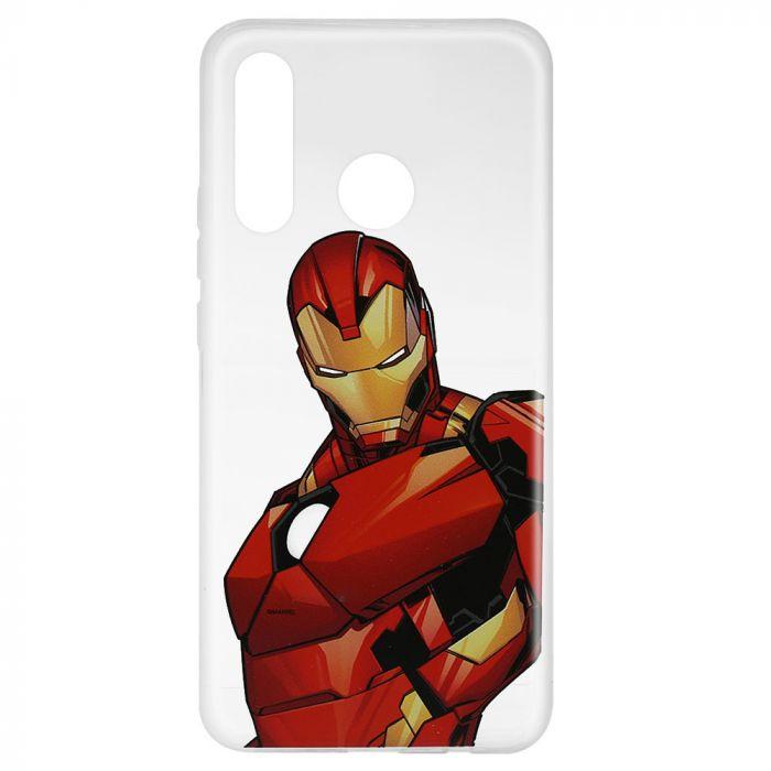 Husa Huawei P30 Lite Marvel Silicon Iron Man 005 Clear