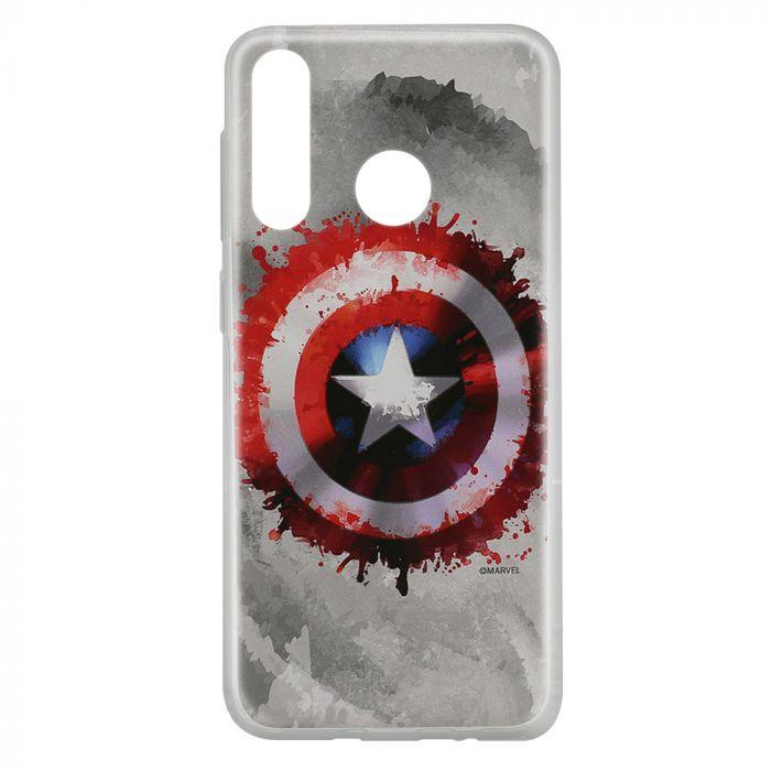 Husa Huawei P30 Lite Marvel Silicon Captain America 019 Gray