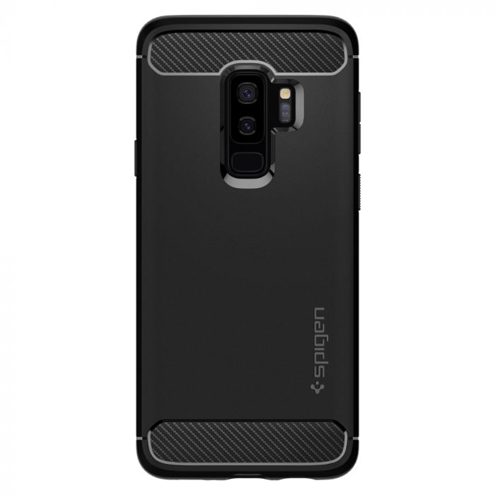 Husa Samsung Galaxy S9 Plus G965 Spigen Rugged Armor Black