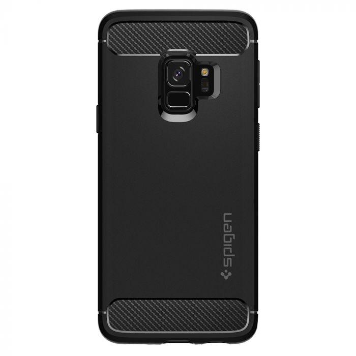 Carcasa Samsung Galaxy S9 G960 Spigen Rugged Armor Black