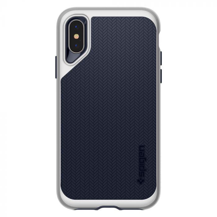 Carcasa iPhone XS Max Spigen Neo Hybrid Satin Silver
