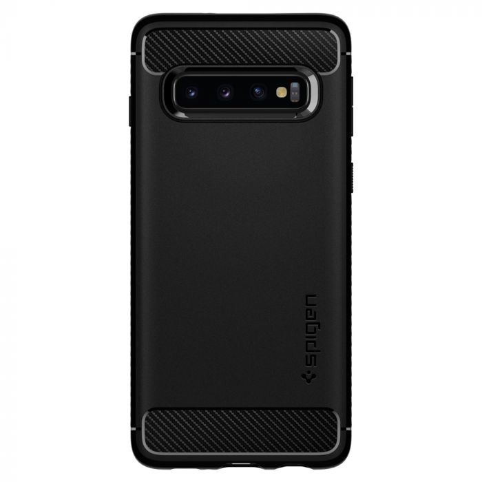 Carcasa Samsung Galaxy S10 Plus G975 Spigen Rugged Armor Black