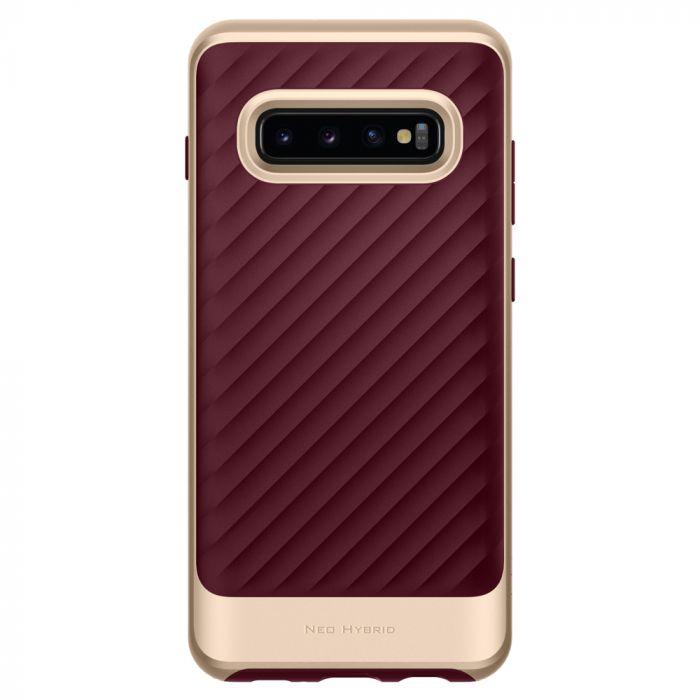 Husa Samsung Galaxy S10 Plus G975 Spigen Neo Hybrid Burgundy