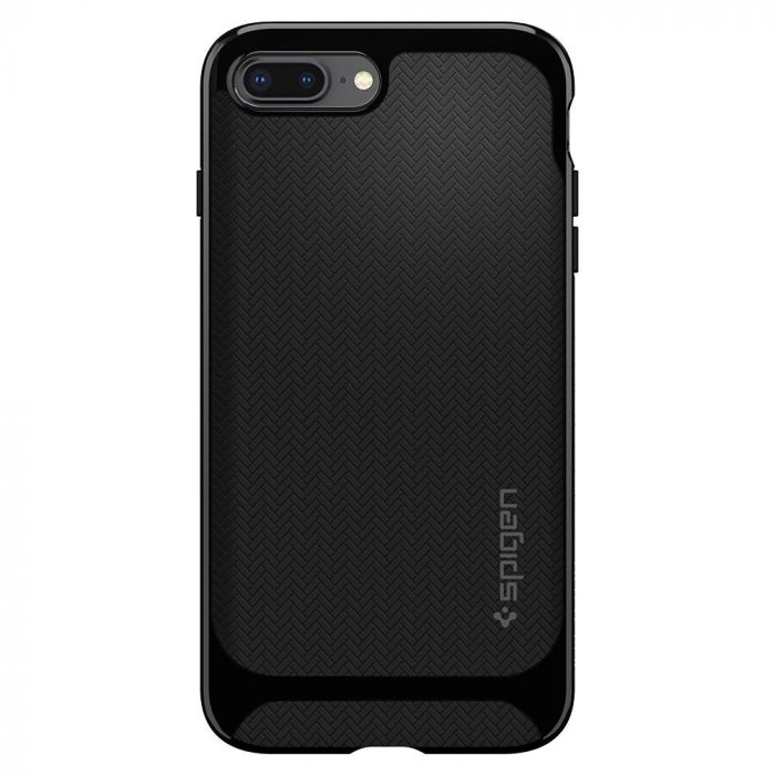Husa iPhone 8 Plus / 7 Plus Spigen Neo Hybrid Herringbone Shiny Black
