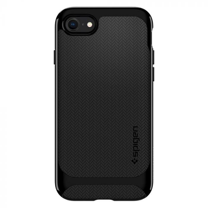 Carcasa iPhone 8 / 7 Spigen Neo Hybrid Herringbone Shiny Black