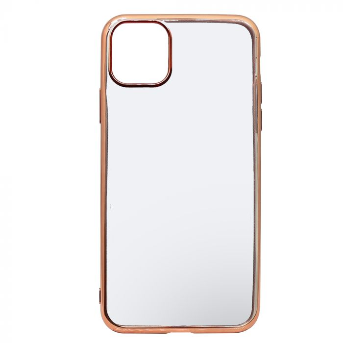 Husa iPhone 11 Pro Max Just Must Silicon Mirror Rose Gold