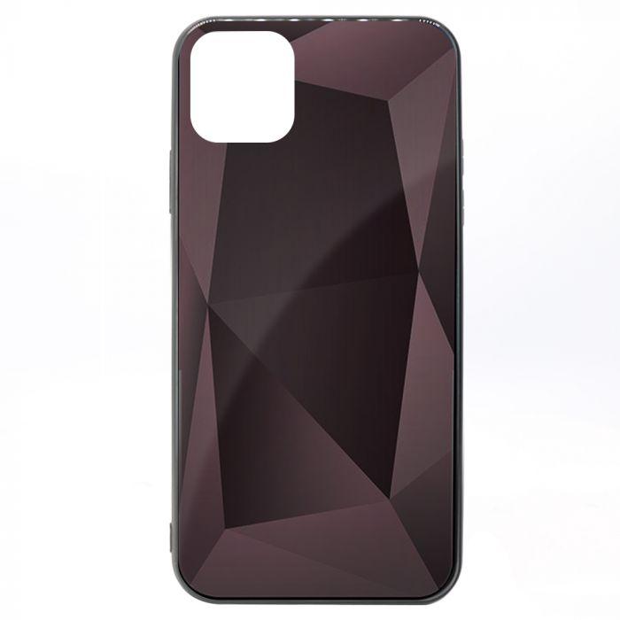 Carcasa iPhone 11 Meleovo Glass Diamond Rose Gold