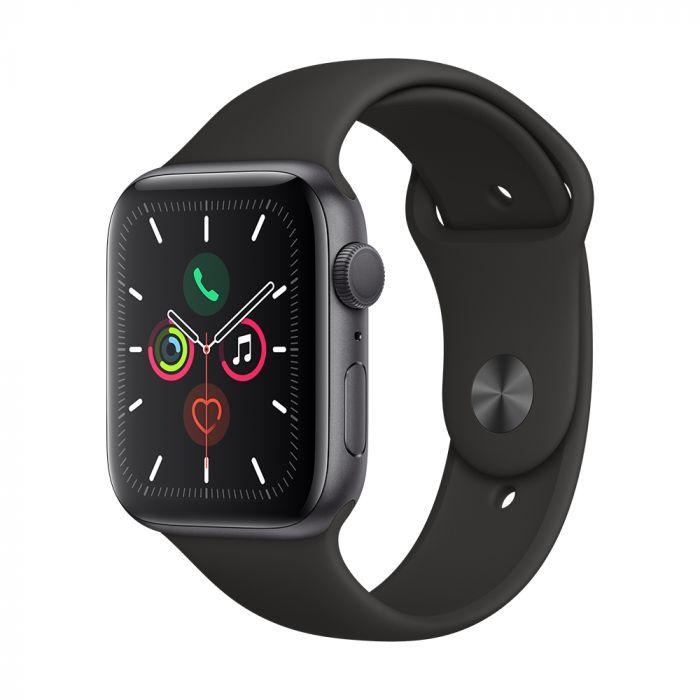 Apple Watch 5 GPS Space Grey Aluminium Case 44mm cu Black Sport Band