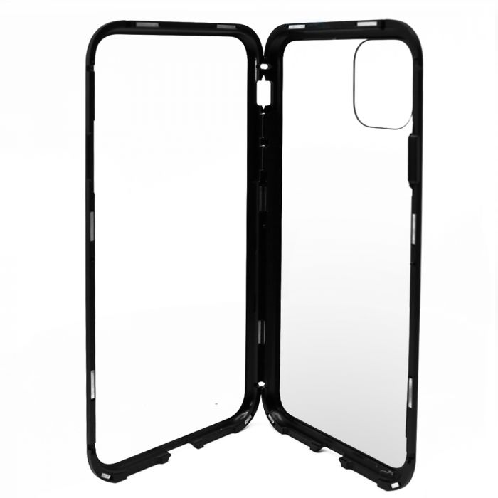 Carcasa iPhone 11 Pro Meleovo Magnetica Back Glass Black