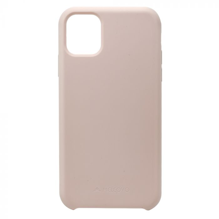 Husa iPhone 11 Meleovo Liquid Silicone Jacket Pink Sand