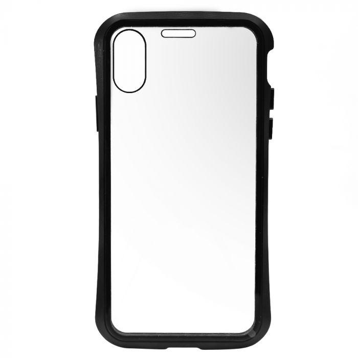 Carcasa iPhone XS Meleovo Magnetica Dual Glass Black