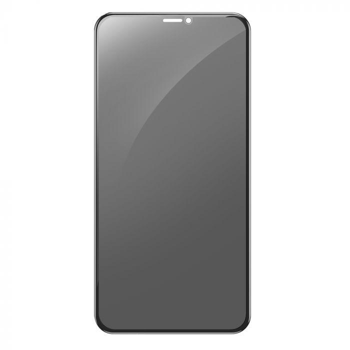 Folie iPhone 11 / XR Devia Sticla 3D Full Screen Privacy Black