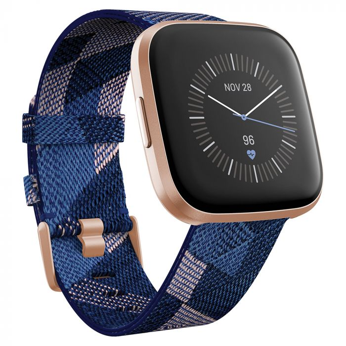 Smartwatch Fitbit Versa 2 Special Edition (NFC) Navy & Pink Woven / Copper Rose Aluminum