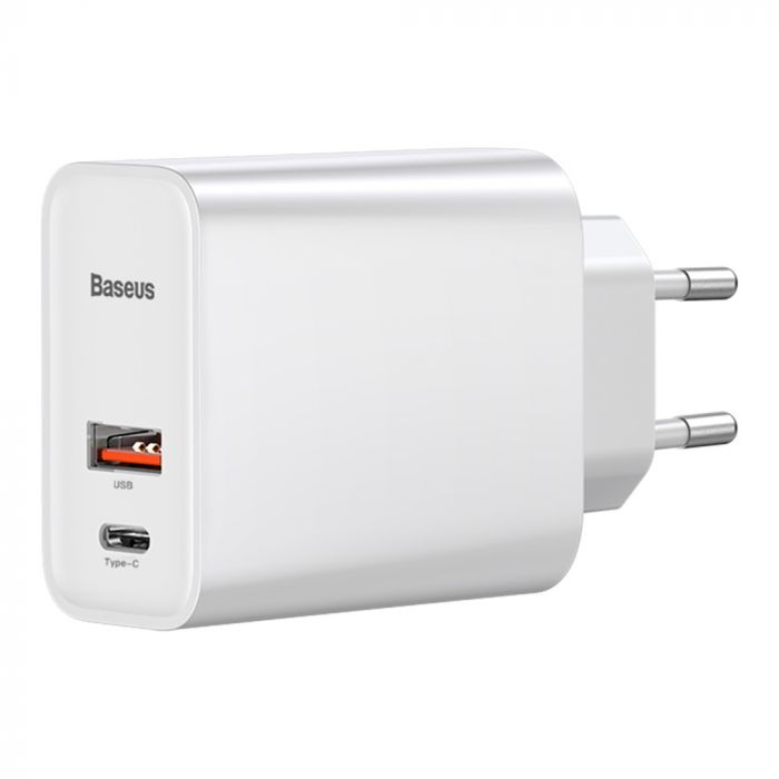 Incarcator Retea Baseus Speed PPS Quick Charger PD Type-C + USB White