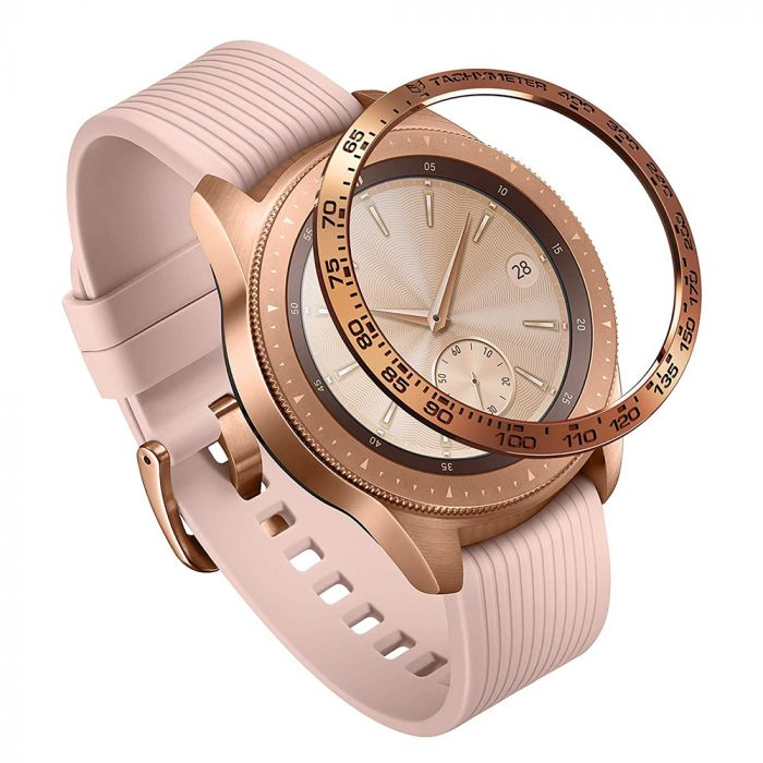 Samsung Galaxy Watch 42mm Ringke Rama Ornamentala Otel Inoxidabil Rose Gold