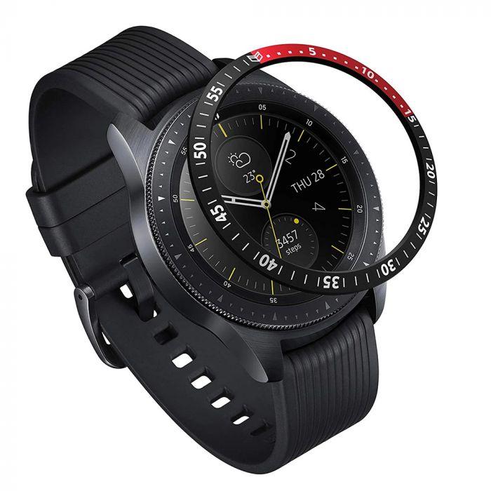 Samsung Galaxy Watch 42mm Ringke Rama Ornamentala Aluminiu Negru / Rosu