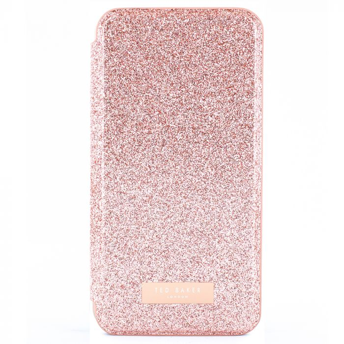 Husa iPhone 11 Pro Max Ted Baker Book Glitsyy Mirror Folio Rose Gold