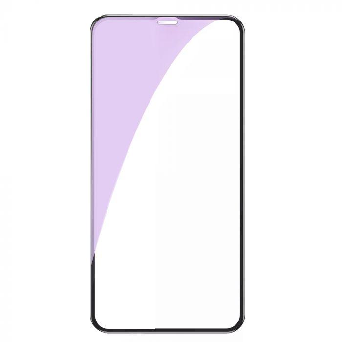 Folie iPhone 11 Pro / XS / X Lemontti Sticla 3D Anti-BlueRay Black