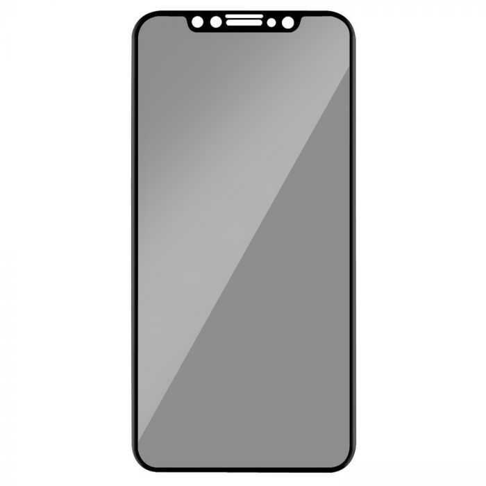 Folie iPhone 11 / XR Lemontti Sticla Privacy Black