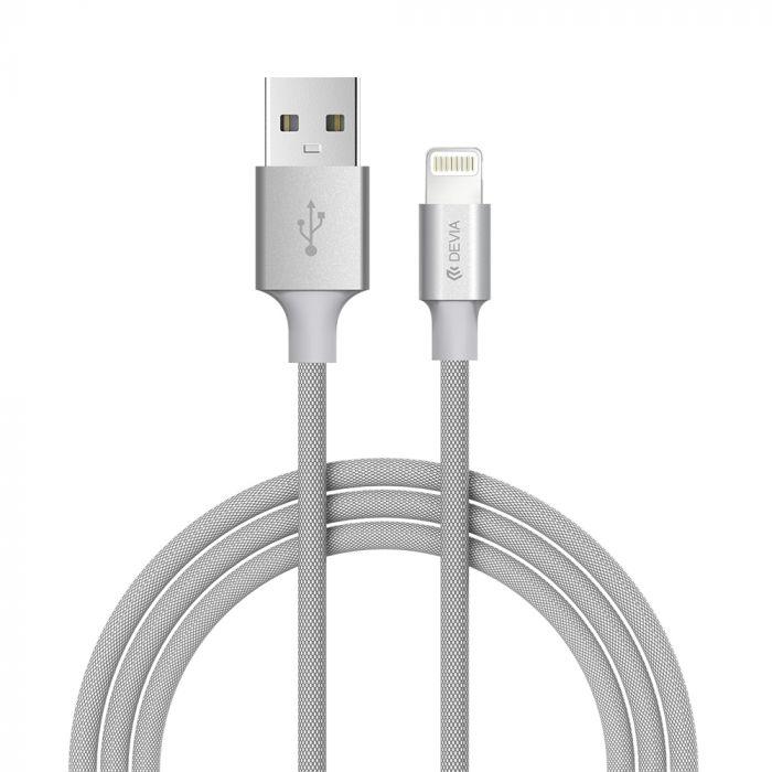 Cablu Lightning Devia Pheez Series Gray 1m