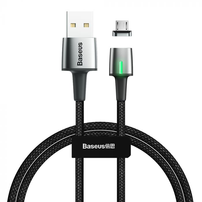 Cablu MicroUSB Baseus Zinc Magnetic USB Black