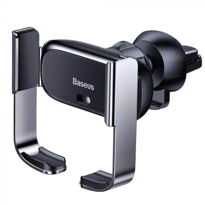 Suport Baseus Auto cu Prindere Electrica a Telefonului Black
