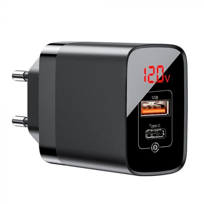 Incarcator Retea USB si Type-C Baseus Mirror Lake PPS Quick Charger Black