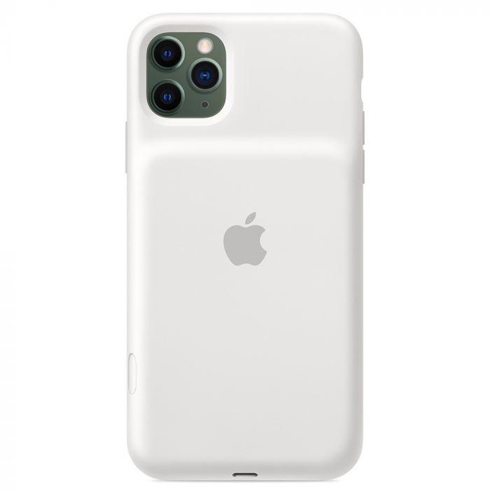 Husa iPhone 11 Pro Max Apple Smart Battery cu Wireless Charging White