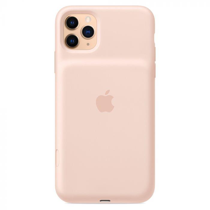 Carcasa iPhone 11 Pro Max Apple Smart Battery cu Wireless Charging Pink Sand