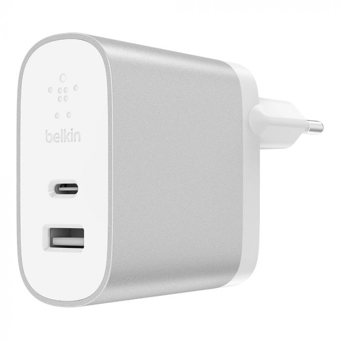Incarcator Retea Belkin Home Charger Type-C + USB Silver