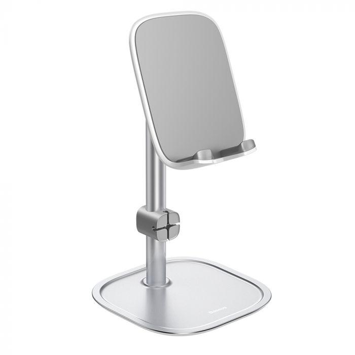 Resigilat Suport Baseus Literary Desk Metalic Silver pentru Telefon & Tableta (3 inch-10.5 inch)