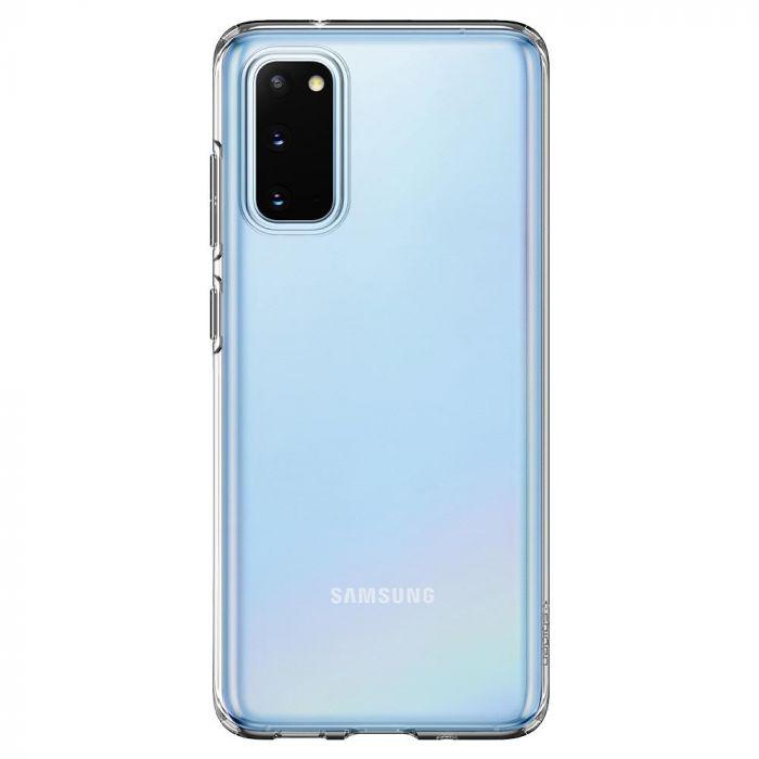 Husa Samsung Galaxy S20 Spigen Liquid Crystal Crystal Clear