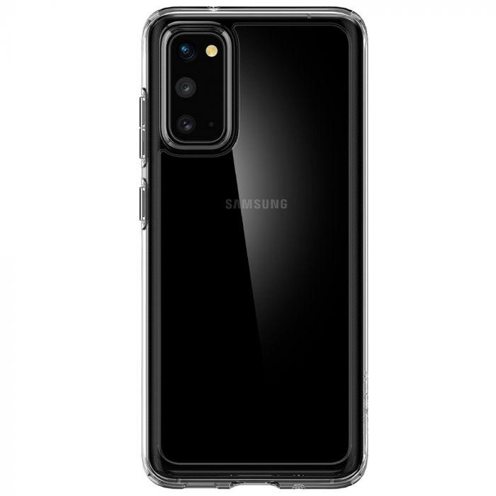 Husa Samsung Galaxy S20 Spigen Crystal Hybrid Crystal Clear