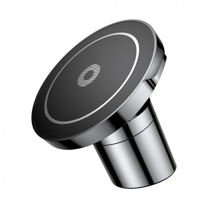 Resigilat Suport Baseus Auto Magnetic cu Wireless Charger Black (incarcare Qi si QC 2.0)