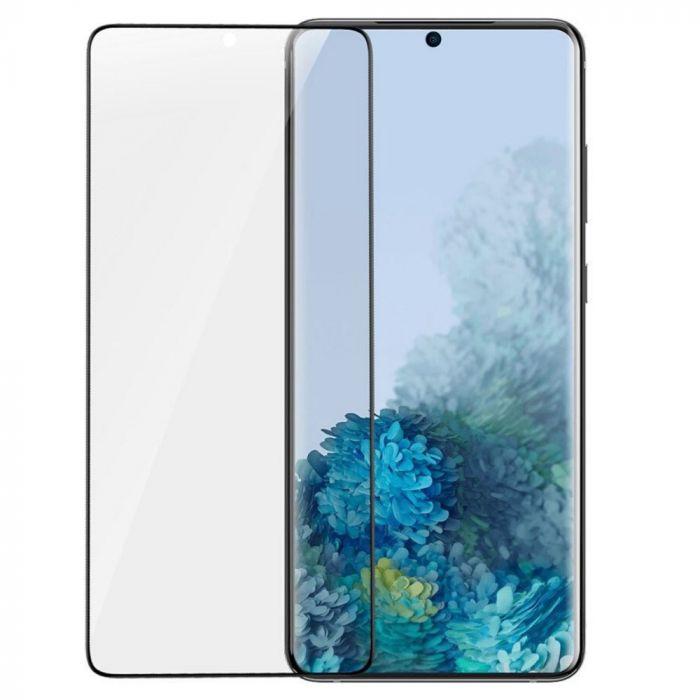 Folie Samsung Galaxy S20 Baseus Curbata Full Screen Anti-explosion Black (flexibila, 2 bucati)