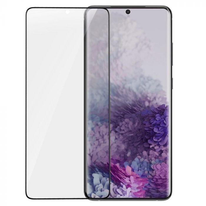 Folie Samsung Galaxy S20 Plus Baseus Curbata Full Screen Anti-explosion Black (flexibila, 2 bucati)