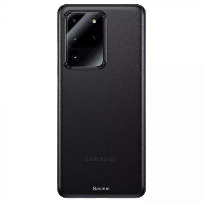 Husa Samsung Galaxy S20 Ultra Baseus Wing Transparent Black