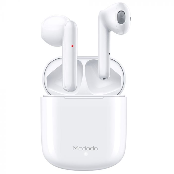 Casti Bluetooth True Wireless Mcdodo Teana Series TWS cu Carcasa Incarcare White