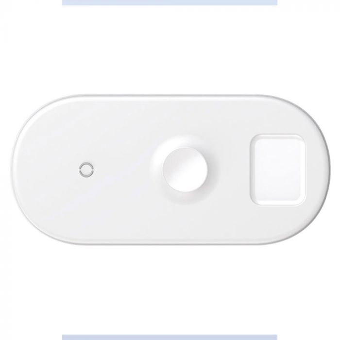 Baseus Smart 3 in 1 Wireless Charging Pad White 18W (watch, airpods, iPhone)